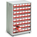 "Treston High Density Cabinet w/48 Red Drawers, 23-13/16""W x 16-1/8""D x 34-1/4""H"