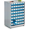 "Treston High Density Cabinet w/48 Blue Drawers, 23-13/16""W x 16-1/8""D x 34-1/4""H"