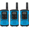 Motorola Talkbout® T100TP Two-Way Radios, Neon Blue - 3 Pack