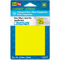 """Redi-Tag® Transparent Film Sticky Notes 23773, 3"""" x 3"""", Neon Orange, 50 Sheets, 1/Pack"""