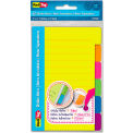 """Redi-Tag® Index Sticky Notes 29500, 4"""" x 6"""", Neon Assorted, 30 Sheets, 120/Pk"""
