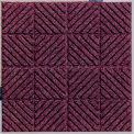 """Waterhog Classic Carpet Tile 21955716000, Diagonal, 18""""L X 18""""W X 7/16""""H, Red/Black, 10-PK"""