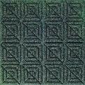 "Waterhog Classic Carpet Tile 22052716000, Geometric, 18""L X 18""W X 7/16""H, Dark Brown, 10-PK"