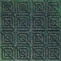 "Waterhog Classic Carpet Tile 22059716000, Geometric, 18""L X 18""W X 7/16""H, Evergreen, 10-PK"