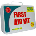 Unitized ANSI First Aid Kit, 16 Unit, Metal Case