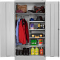 "Standard Unassembled Combination Cabinet,36""W X 24""D X 72""H, Light Grey"