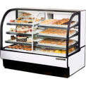 "True® TCGDZ-59 Curved Glass Dry/Refrigerated Bakery Case - 59-7/8""W X 35-1/2""D"