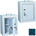 "Harloff Narcotics Box, Medium, Double Door, Double Lock 12""W x 9""D x 16""H - Hammer Tone Blue"