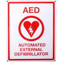 "First Voice™ AED Flat Wall Sign, 8"" X 10"", Plastic"