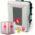 First Voice™ AED Surface Mount Storage & Labeling Kit with Signage, Alarmed