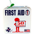 First Voice™ 50 Person ANSI Compliant Unitized First Aid Kit, Metal Case