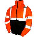 Tingley® J26119 Bomber II Hooded Jacket, Fluorescent Orange/Red/Black, Medium