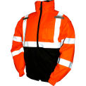Tingley® J26119 Bomber II Hooded Jacket, Fluorescent Orange/Red/Black, Small