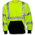 Tingley® S78022 Class 3 Crew Neck Sweatshirt, Fluorescent Lime, XL
