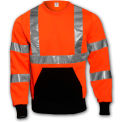 Tingley® S78029 Class 3 Crew Neck Sweatshirt, Fluorescent Orange, Small