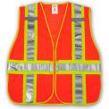 Tingley® V70839 Job Sight™ Class 2 Adjustable Vest, Fluorescent Orange, 2XL/5XL