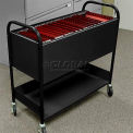 "Marvel Utility Cart, 38""W x 11""D x 36-1/2""H - Black"