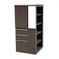 Marvel® Ensemble Personal Storage Shelf Tower with Right Bookcase, Dark Neutral