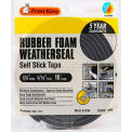 "Frost King Sponge Rubber Foam Tape, 3/8"" W x 5/16"" D x 10' L, Black"