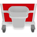 """TrippNT™ 51643 Element Healthcare Cart Waste Container with Mount, 23""""W x 8-1/2""""D x 13""""H"""