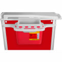 "TrippNT™ 51644 Element Healthcare Cart 5.4 qt Sharps Container with Mount 23""W x 5-1/2""D x 12""H"