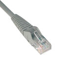 Tripp Lite 3ft Cat6 Gigabit Snagless Molded Patch Cable RJ45 M/M Gray 3'