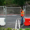 TrafFix Devices Water-Wall™ Fence, 6' Single Gate, 45032-WWFG-C