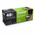 Toter 48 Gallon Cart Liner, 2.0 Mil, Black, 8 Pack - GB048-R8000