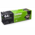 Toter 64 Gallon Cart Liner, 1.1 Mil, Black, 8 Pack  - GB064-R8000