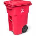 Toter 2-Wheel Medical Waste Cart, 64 Gallon Red - RMN64