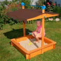 "Felix Sandbox w/Adjustable Roof, 40""L x 40""W x 51""H"