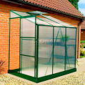 "Exaco BIO-Star Lean-To Greenhouse w/Base, 6'L x 4'W x 7' 1""H"