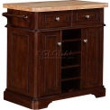 "Tresanti® Fontaine Kitchen Island Cabinet, 36""W x 21""D x 35-3/4""H, Roasted Cherry"