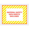 "4-1/2 x 6"" Yellow Stripes Material Safety Data Sheets Enclosed - Full Face - 1000/Pack"