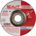 "United Abrasives - Sait 20081 Depressed Center Wheel T27 A24N 7""x 1/4"" x 7/8"" 24 Grit Aluminum Oxide - Pkg Qty 25"