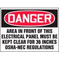 "Accuform LELC002XVE Electrical Hazard Label, Danger, 5""W x 3-1/2""H, Dura-Vinyl™, 1/Each"