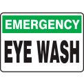 "Accuform MFSD913VS Emergency Sign, Eye Wash, 14""W x 10""H, Adhesive Vinyl"