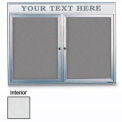 "24"" x 36"" 1-Door Radius Enclosed White Easy Tack Board w/Header & Satin Frame"