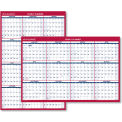 AT-A-GLANCE® Erasable Vertical/Horizontal Wall Planner, 32 x 48, Blue/Red, 2019