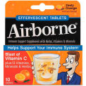 Airborne 47865-30004 Immune Support Effervescent Tablet, Orange, 10/Pack