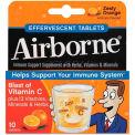 Airborne 47865-30004 Immune Support Effervescent Tablet, Orange, 10/Pack