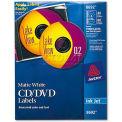 Avery 8692 Inkjet CD/DVD Labels, Matte White, 40/Pack