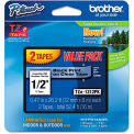 """Brother® P-Touch® TZe Labeling Tapes, 1/2""""W, Black on Clear, 2/Pack"""