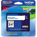 "Brother® P-Touch® TZe Labeling Tape, 3/4""W, Blue on White"