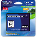 "Brother® P-Touch® TZe Labeling Tape, 1/4""W, White on Black"