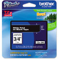 "Brother® P-Touch® TZe Labeling Tape, 3/4""W, White on Black"