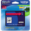 """Brother® P-Touch® TZe Labeling Tape, 3/8""""W, Black on Red"""