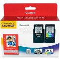 Canon® 5206B005 (PG-240, CL-241XL) High-Yld ChromaLife 100 Ink, Black, Tri-Color, 2/Pk