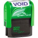 2000 PLUS® 2000 PLUS Green Line Message Stamp, Void, 1 1/2 x 9/16, Blue