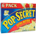 Pop Secret® Premium Microwave Popcorn, Extra Butter, 3.5 Oz, 6/Box